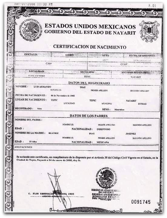 Excelente Cómo Obtener Certificado De Nacimiento Notariada Adorno ...