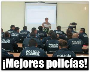 5 policias municipales de la paz bcs capacitacion