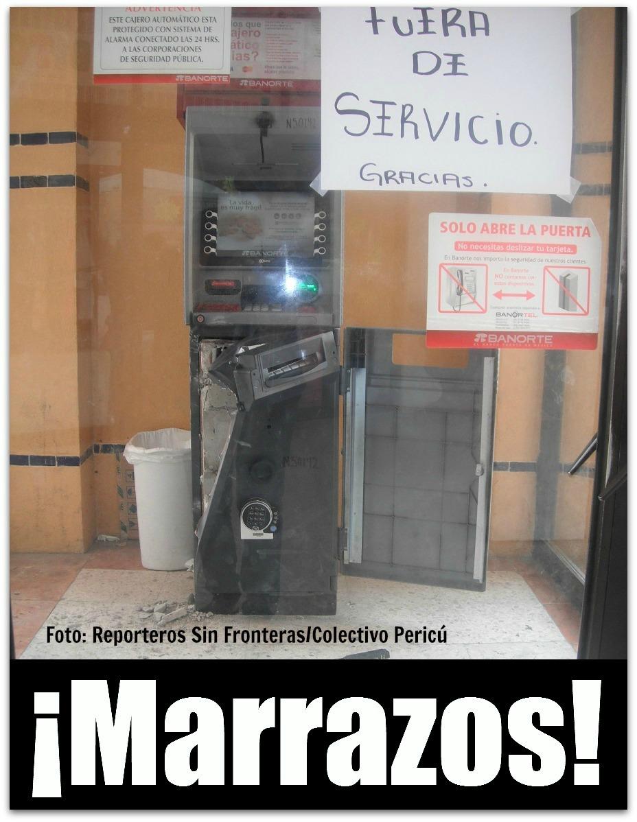Intentaron robar cajero autom tico banorte colectivo peric for Como cobrar en un cajero automatico