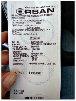 3 - 1 gasolinera orsan cabo san lucas