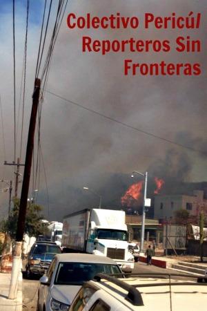2 - 1 arde y el trafico atorado