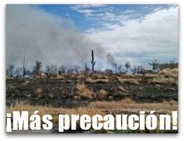 2 - 1 incendios de zacate en ciudad constitucion