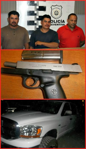 2 - 1 les encontraron pistola la paz bcs