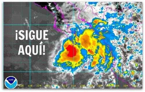 2 - 1 tormenta lorena reporte de siete de la noche