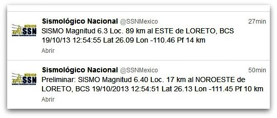 2 - 1 sismos en loreto de hoy sabado