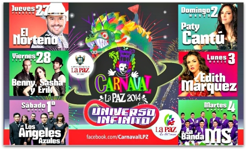 2 - 1 cartelera de artistas carnaval la paz 2013