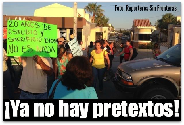 2 - 1 profesores se manifestaron ayer