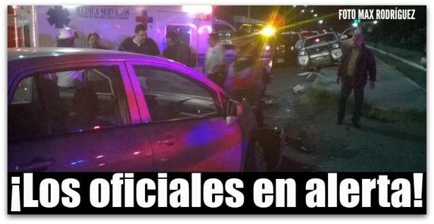 CHOQUE CON POLICIA MINISTERIAL LA PAZ BCS