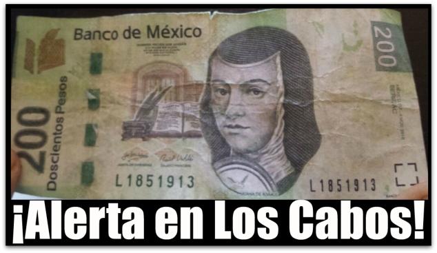 1 billete falso de 200 pesos