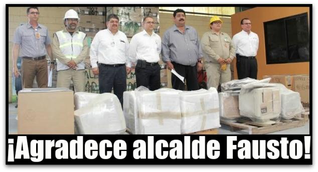 ALCALDE FAUSTO ALVAREZ GAMEZ RECIBE DONATIVOS