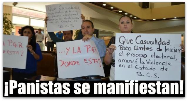 PAN MANIFESTACION CONGRESO BCS