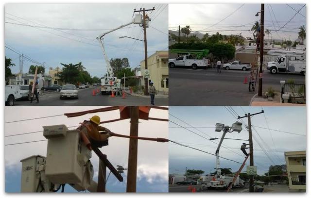 Ya están restableciendo energía eléctrica en #LosCabos – Tormenta #Lidia