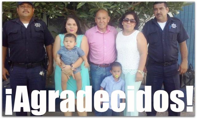Agradecida familia con agentes de Seguridad Pública_ su hija a punto de dar a luz, fue rescatada por los uniformados