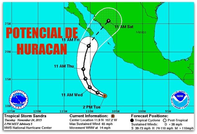 0 a a sandra tormenta tropical