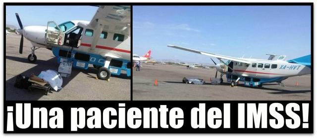 0 a ala de avion paciente del imss