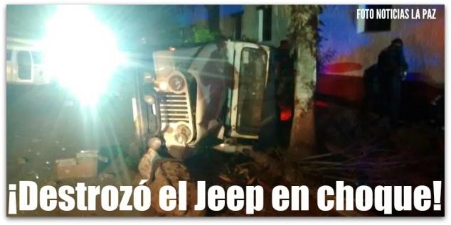 0 a jeep accidente en la paz bcs