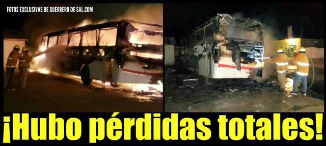d autobus aguila incendio guerrero negro