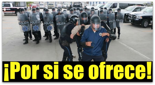 0 a a policia antimontines los cabos