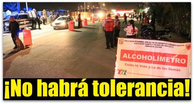 0 a a alcoholimetro en los cabos 2016