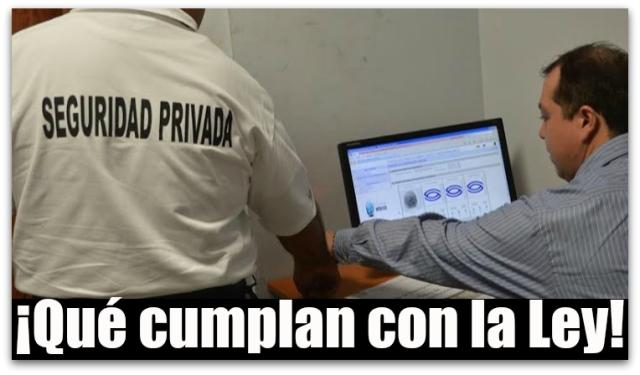 0 a empresas de seguridad privada