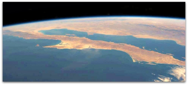 0 a a peninsula de baja california via satelite