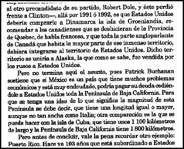 0 a propone patrick buchanan que mexico pague su deuda con baja california