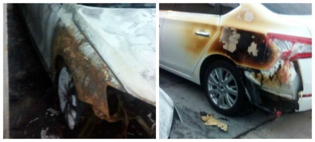 0 a la paz vehiculos incendiados anoche