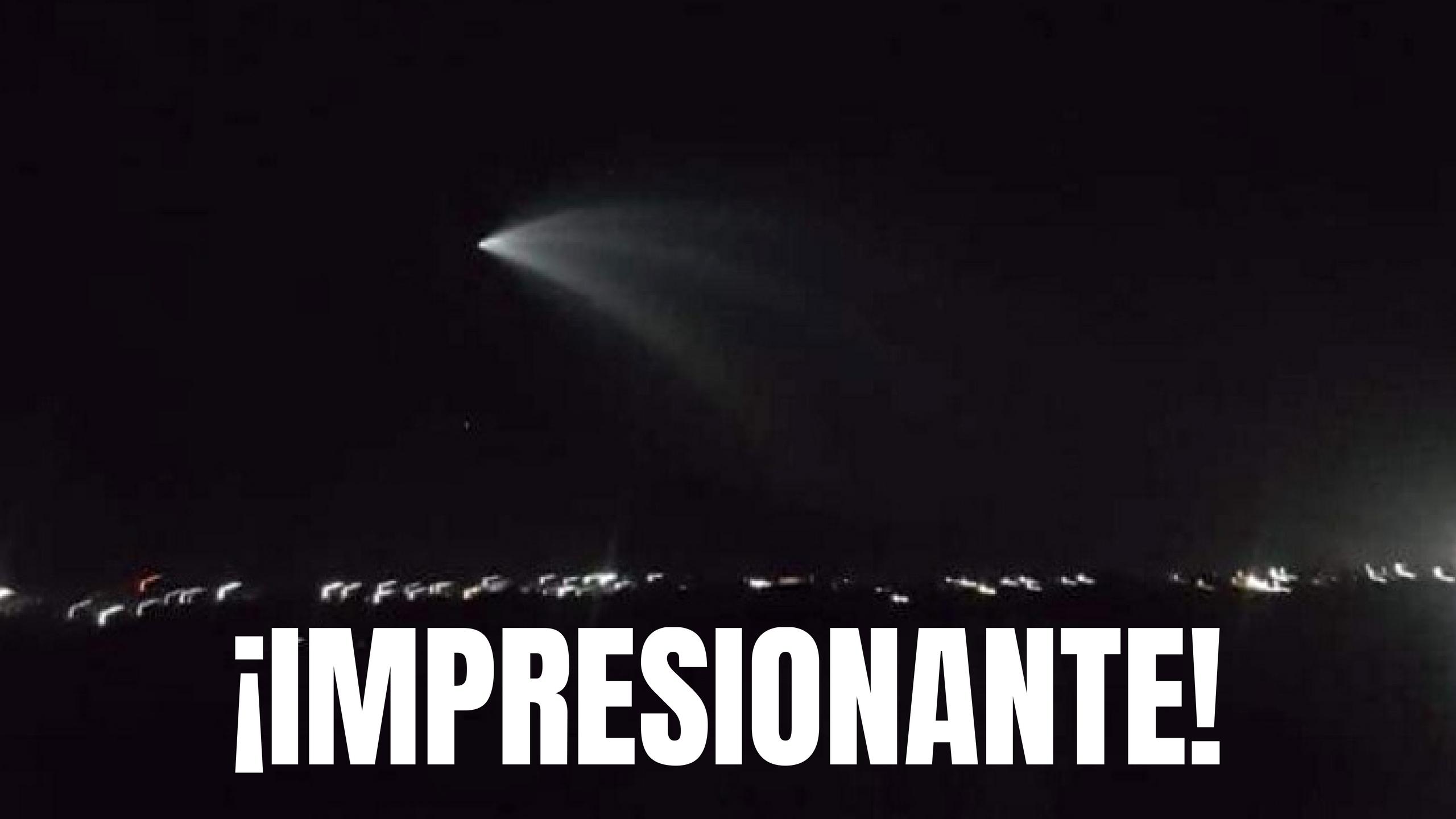 Cohete Falcon 9 surcando los cielos deja atónitos a los californianos